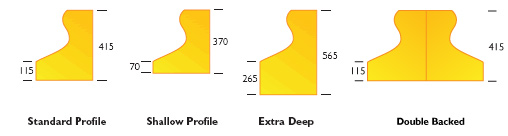 Camel Kerb Profile Options